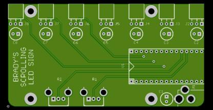 Brady's Scrolling LED Sign PCB render