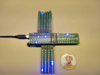 Seventeen 12LEDsticks with Arduino MEGA